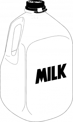 Milk | Free Stock Photo | Illustration of a plastic gallon jug of ...