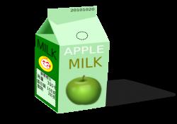 Clipart - apple milk