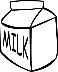 OnlineLabels Clip Art - Small Milk Carton - Black And White