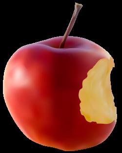 Bitten Apple Red Transparent Clip Art Image | Gallery Yopriceville ...
