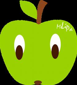 free kawaii apple illustration, kawaii apple clipart graphic by ...