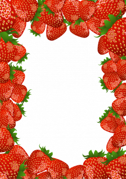 Transparent PNG Frame with Strawberries | Frames | Pinterest ...