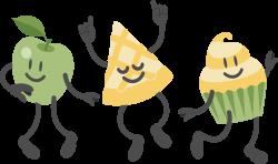 Dance party Apple Clip art - Apple pizza dance party 5313*3160 ...