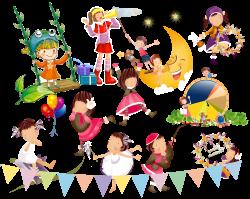 Dance Singing Clip art - Singing and dancing children 3140*2500 ...