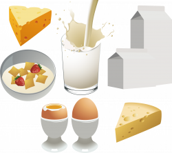 Milk Breakfast Dairy product Food Clip art - Milk and bread 2239 ...