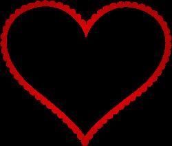 Red Heart Border Frame Transparent PNG Clip Art | Gallery ...
