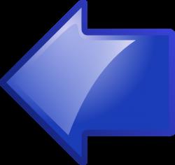 Blue Arrow Pointing Left Clip Art at Clker.com - vector clip art ...