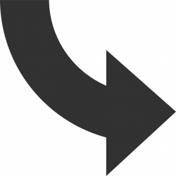 Curved Arrow Down Right transparent PNG - StickPNG