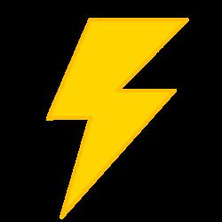 Yellow Lightning Clipart Png - 3057 - TransparentPNG