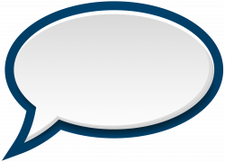 Speech Bubble White Blue PNG Clip Art Image | Gallery Yopriceville ...