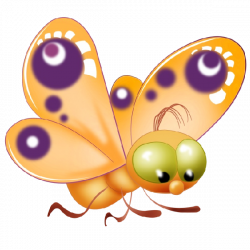 Baby Butterfly Cartoon Clip Art Pictures.All Butterfly Are Om A ...
