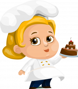 Food, Chef Cake Woman Lady Female Chubby Hat Dre #food, #chef, #cake ...