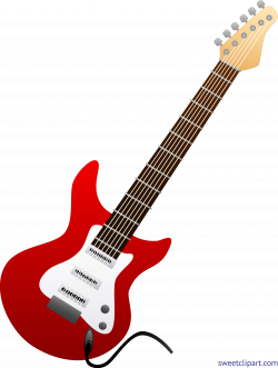 Electric Guitar Red Clip Art - Sweet Clip Art