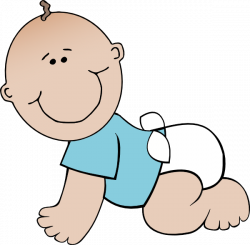 Baby Boy Crawling Clip Art at Clker.com - vector clip art online ...