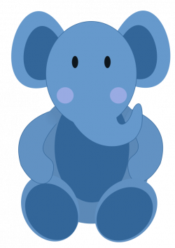 Baby elephant blue elephant clipart kid - Clipartix
