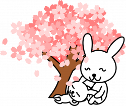 Pink Sakura Tree Mother And Baby | Free Images at Clker.com - vector ...