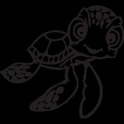 nemo turtle artwork black and white - Google Search | Disney ...