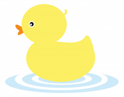 This cute yellow duckling clip art is great for use on whatever ...