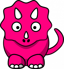 Pink Baby Dinosaur Clip Art At Clker Com Vector Clip Art Online ...