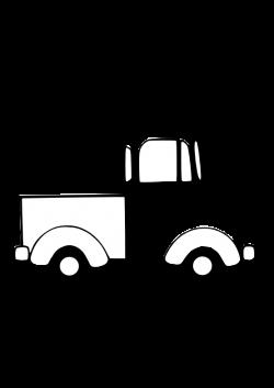 Truck Clip Art Black And White | Art | Pinterest | Clip art, Quilt ...