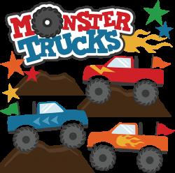 Monster Trucks SVG Scrapbook Collections monster trucks cut files ...