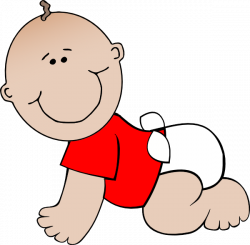 Crawling Baby Red clip art - vector clip art online, royalty free ...