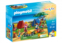 Camp Site with Fire - 9153 - PLAYMOBIL® USA