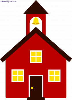 School House Red Clipart - Sweet Clip Art
