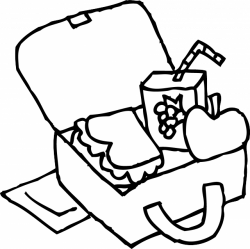 Lunch Box Coloring Page | Clipart Panda - Free Clipart Images