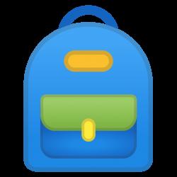 School backpack Icon | Noto Emoji Clothing & Objects Iconset | Google