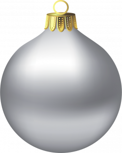 Transparent Christmas Silver Ornament Clipart | Gallery ...