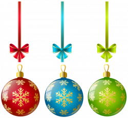 Large Transparent Three Christmas Ball Ornaments Clipart | Gallery ...