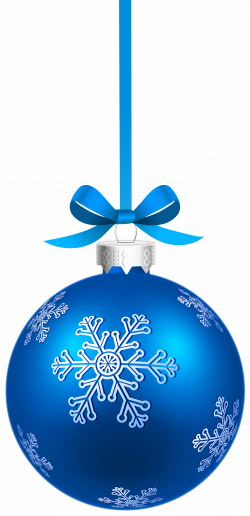 Blue Christmas Hanging Ball with Snowflakes PNG Clipart Image ...