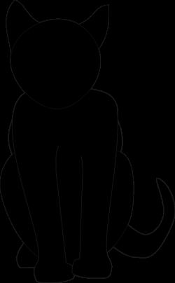 Sitting black cat clip art png | Dog & Cat Clip Art | Pet Graphics ...