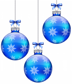 Blue Christmas Balls Decoration PNG Clipart Image | Gallery ...