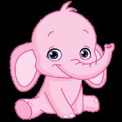 Cute elephant pink elephant clipart | GiRaFfE & eLePhAnT cLiP ArT ...