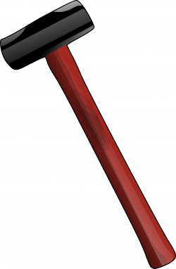 Clipart - red-sledgehammer