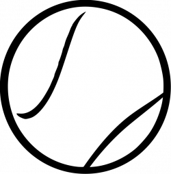 Tennis ball by Steren - ball, ball, clip art, clipart, image, line ...