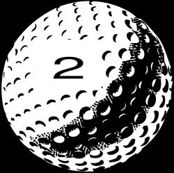 Golf Ball No 2 Clip Art at Clker.com - vector clip art online ...