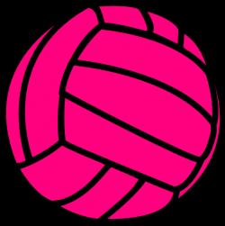 Pink Volleyball Clip Art at Clker.com - vector clip art online ...