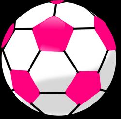 Soccer Ball With Hot Pink Hexagons Clip Art at Clker.com - vector ...