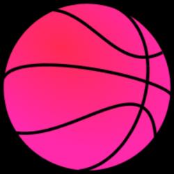Pink Basketball Clipart
