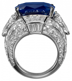 Ring with Blue Diamond PNG Clipart - Best WEB Clipart
