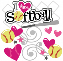 Softball clipart love ~ Frames ~ Illustrations ~ HD images ~ Photo ...