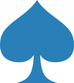 Blue Spade Clip Art at Clker.com - vector clip art online, royalty ...