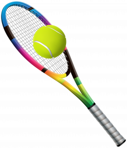 Tennis Racket and Ball Transparent PNG Clip Art Image | Office wear ...