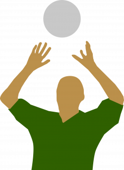 Clipart - Volleyball player silhouette