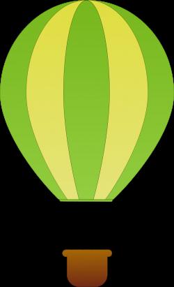 Clipart - Vertical Striped Hot Air Balloons 1