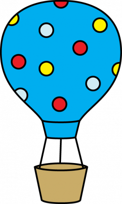 Colorful Polka Dot Hot Air Balloon   foltok   Pinterest   Hot air ...