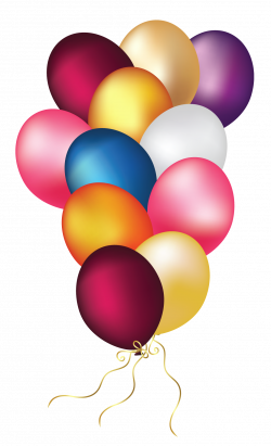 Colorful Balloons Transparent PNG Clipart | Happy Birthday ...
